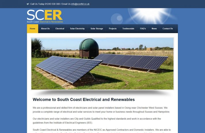 Website design for Chichester Electrical Installers