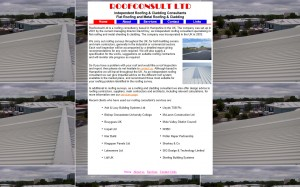Roofconsults' website before the redesign.