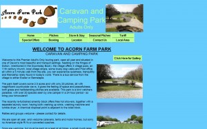 The old website for Acorn Farm Park