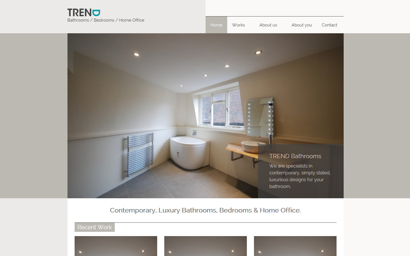 Website Re Design For Chichester Luxury Bathroom Company