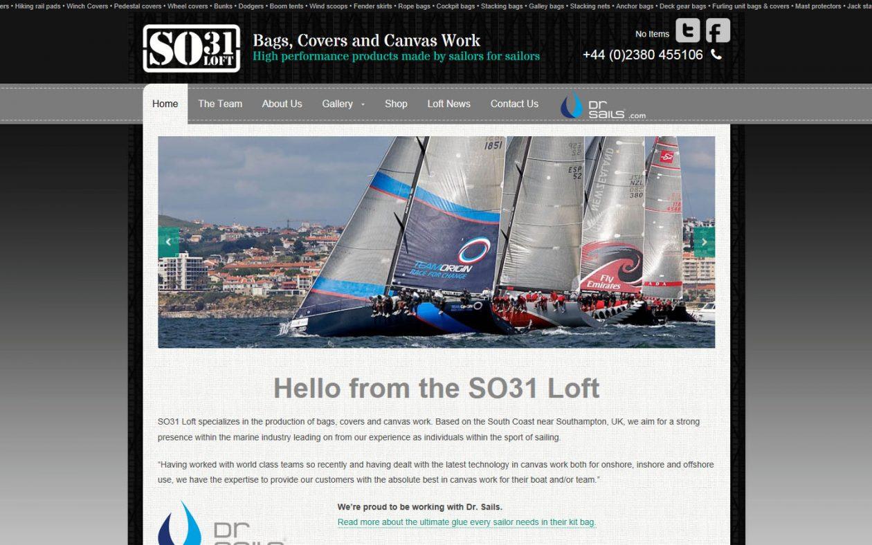 New website design for Hamble business SO31Loft