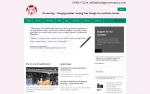 The old website of JCA Learning